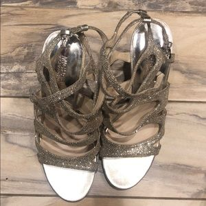Michael Kors Shoes - Silver sparkle shoes that add to any outfit